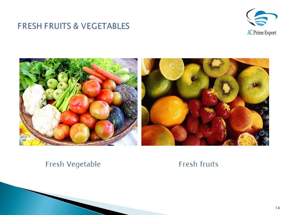14 Fresh Vegetable Fresh fruits