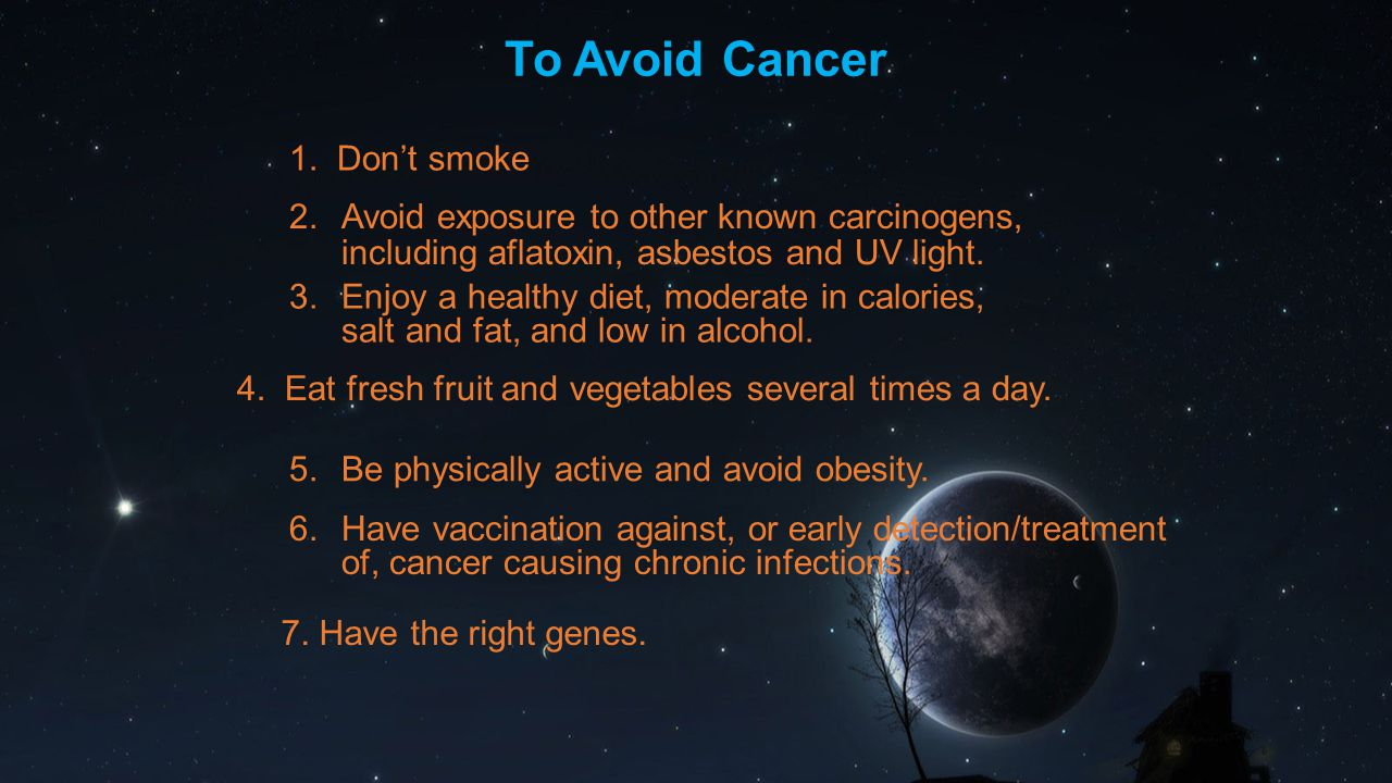 Smoking Single biggest cause of cancer 25-40% smokers die in middle age