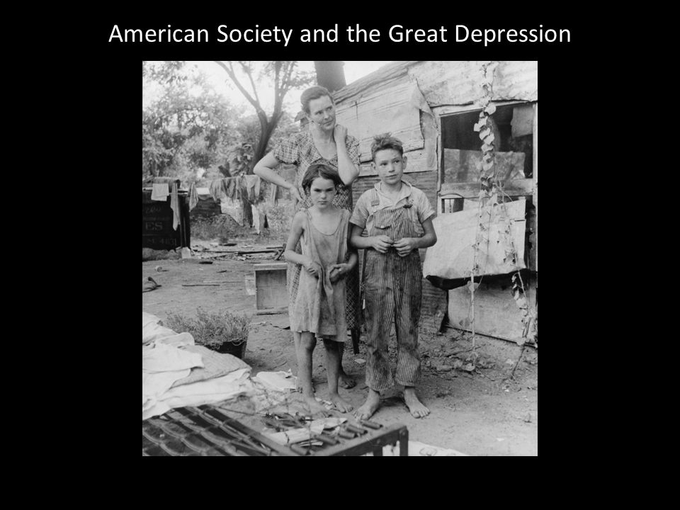 American Society and the Great Depression