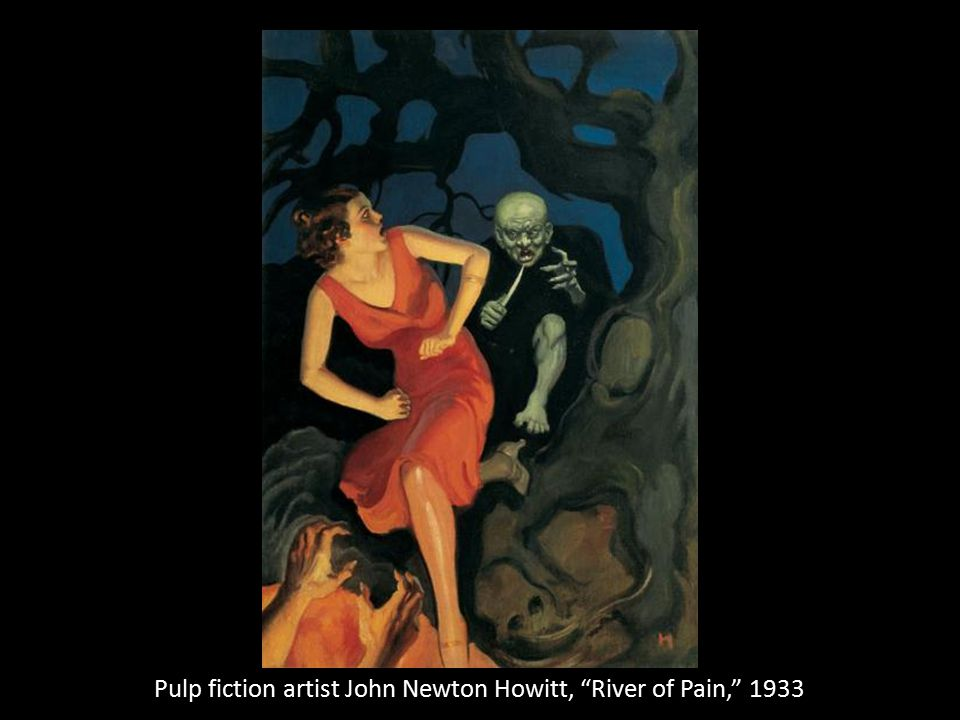 Pulp fiction artist John Newton Howitt, River of Pain, 1933