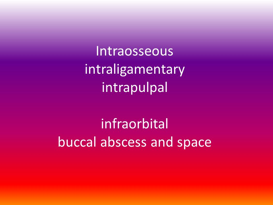 Intraosseous anesthesia
