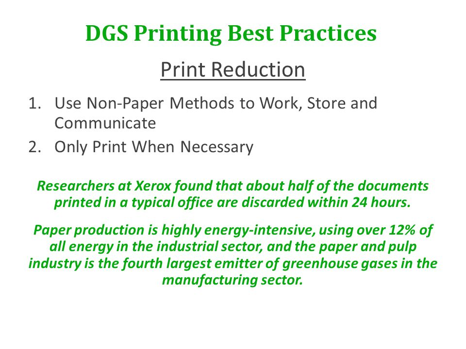 DGS Printing Best Practices For questions or assistance, please contact: James Ley 410.767.4335 james.ley@maryland.gov