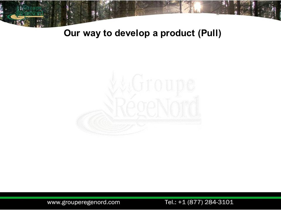 Our way to develop a product (Pull)
