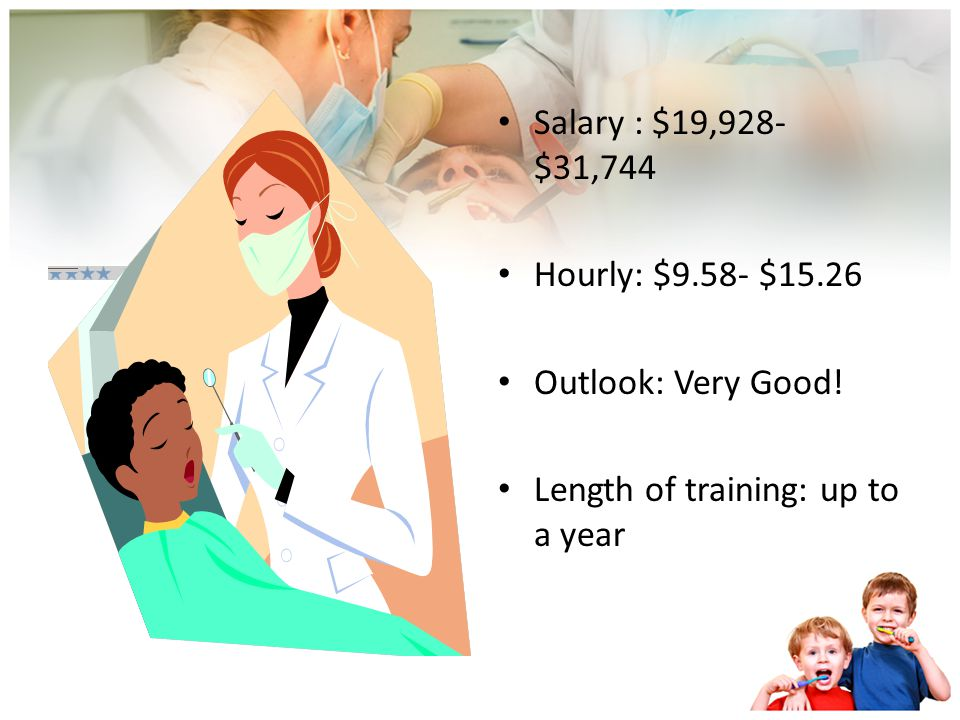 Dental Assistants Work under the supervision of dentists Certification is available through the Dental Assisting National Board