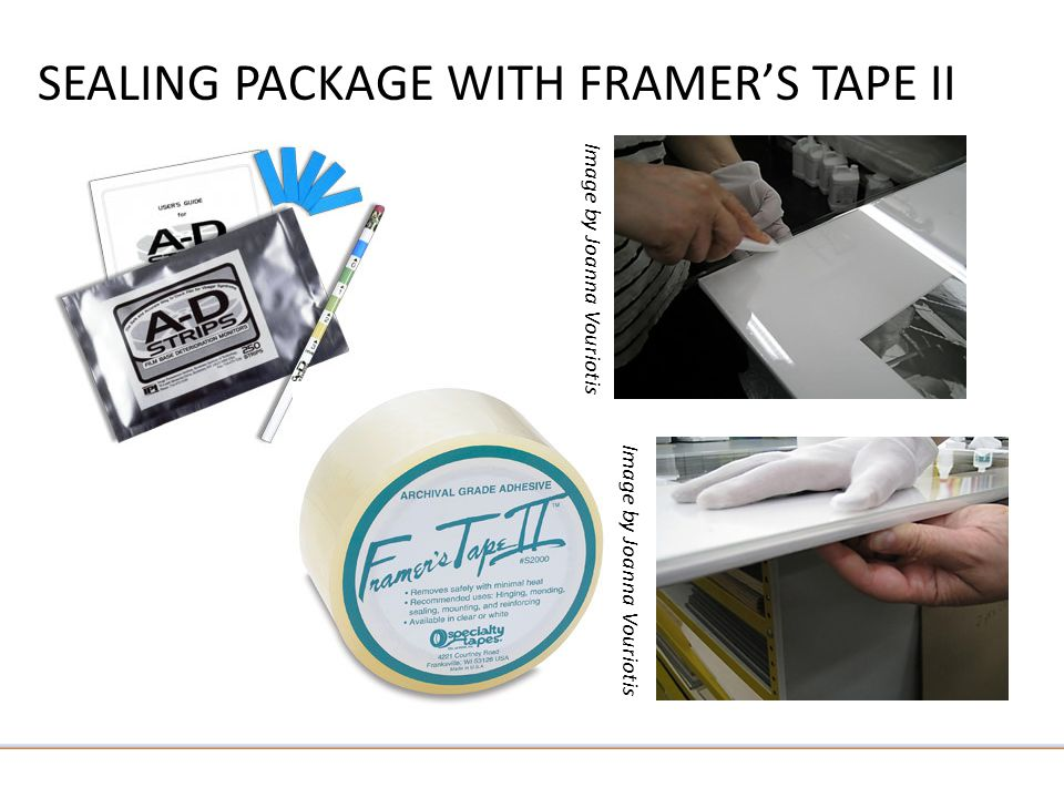 SEALING PACKAGE WITH FRAMER'S TAPE II Image by Joanna Vouriotis
