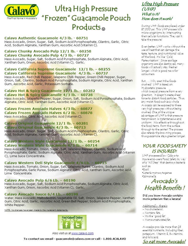 Calavo Authentic Guacamole 4/3 lb.
