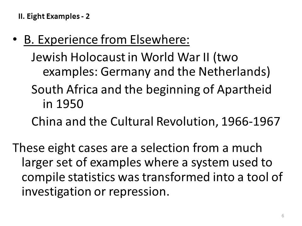 II. Eight Examples - 2 B.