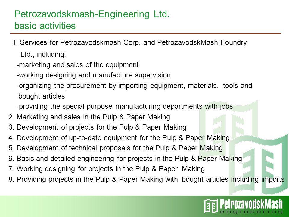 1. Services for Petrozavodskmash Corp.