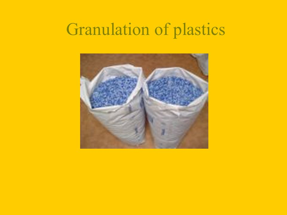 Granulation of plastics