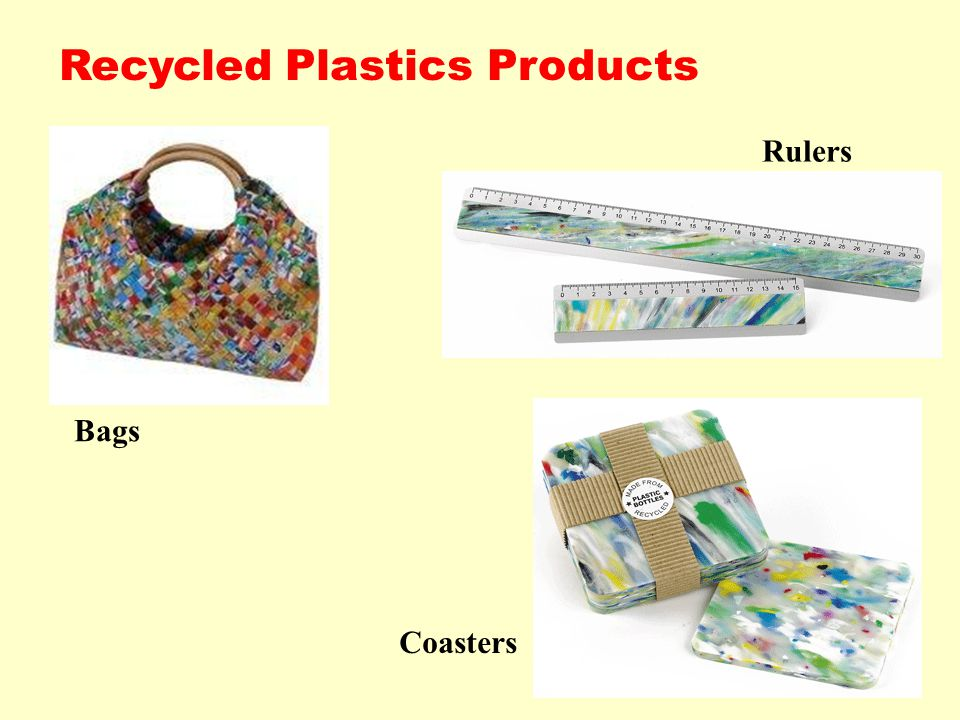 Recycled Plastics Products Rulers Bags Coasters
