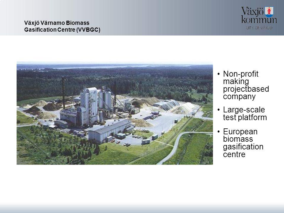 Växjö Värnamo Biomass Gasification Centre (VVBGC) Non-profit making projectbased company Large-scale test platform European biomass gasification centre