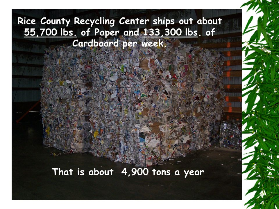 Rice County Recycling Center ships out about 55,700 lbs.