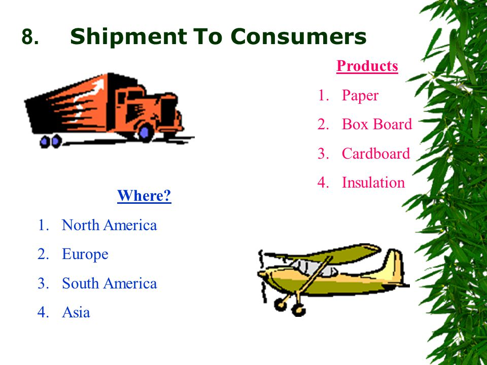 8. Shipment To Consumers Where.
