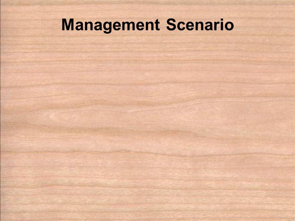 Management Scenario