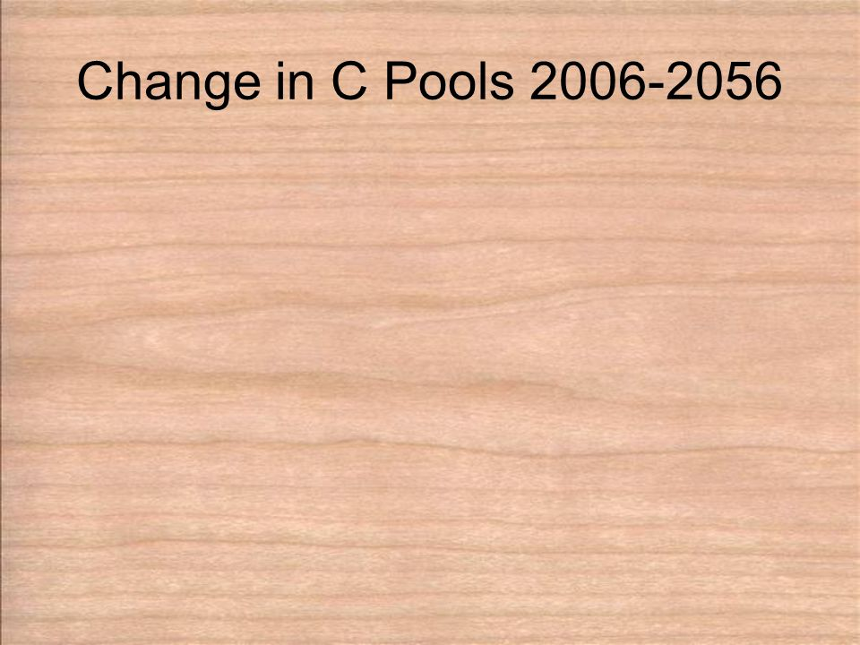 Change in C Pools 2006-2056