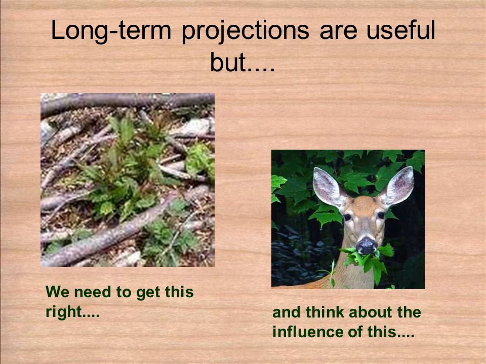 Long-term projections are useful but.... We need to get this right....