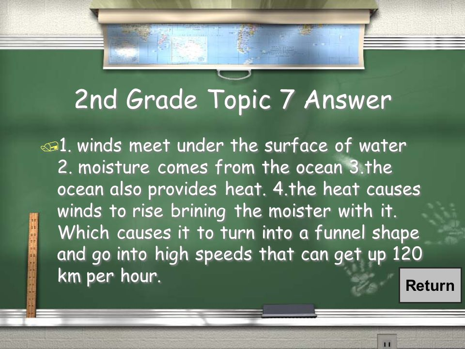 2nd Grade Topic 7 Question / What makes a hurricane