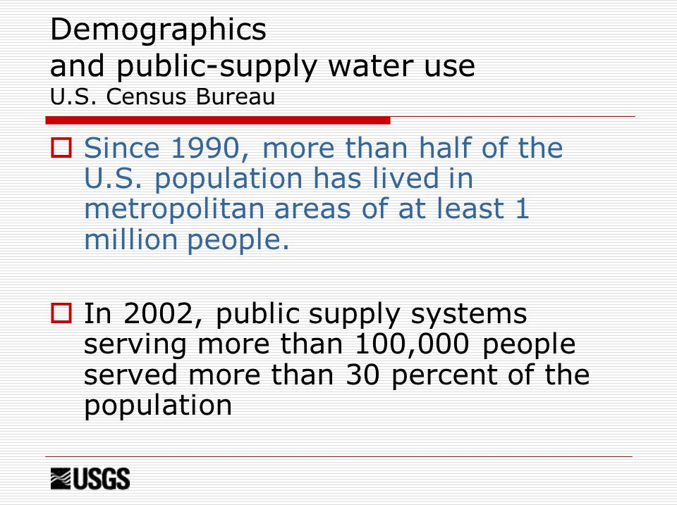 Demographics and public-supply water use U.S.