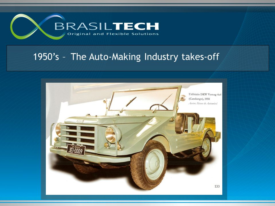 1950's – The Auto-Making Industry takes-off