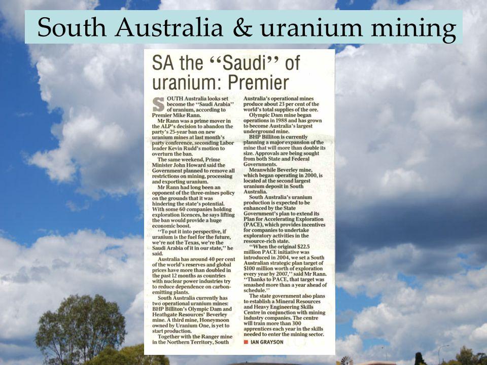 South Australia & uranium mining