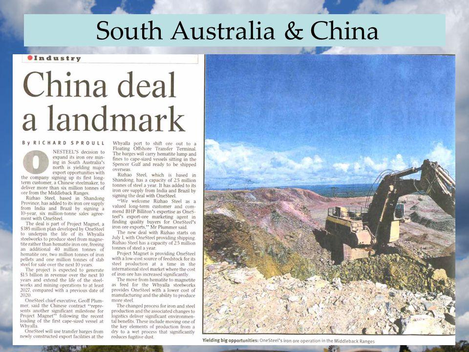 South Australia & China