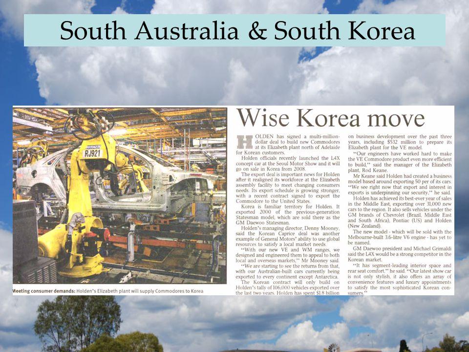 South Australia & South Korea