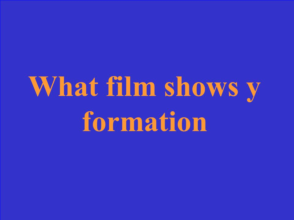 What film shows y formation