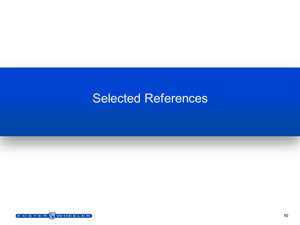 10 Selected References