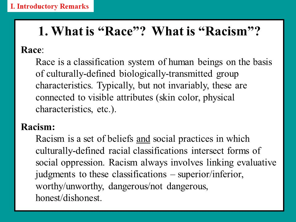 1. What is Race . What is Racism .