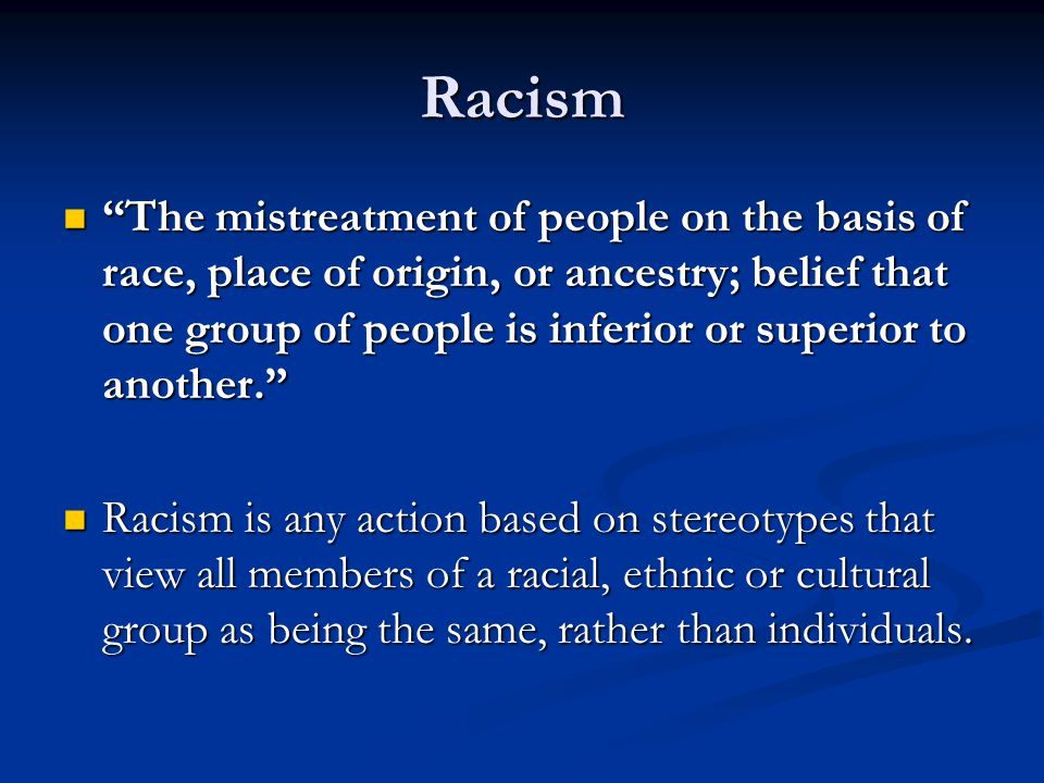 Ipsos-Reid Survey 2005 1 in 6 Canadians say they have been the victim of racism.