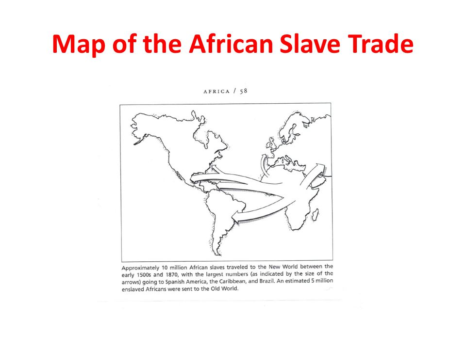 Map of the African Slave Trade