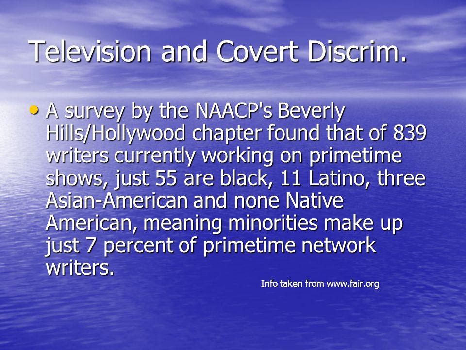 Television and Discrim.Cont.