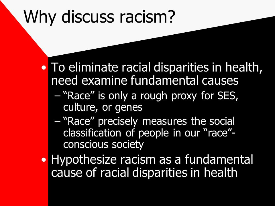 Why discuss racism.