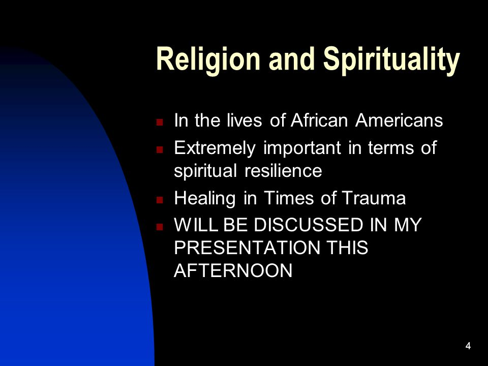45 Therapeutic Support Groups Valuable resource for helping African Americans through traumatic situations Reconnect with a sense of community after disaster Encourage interaction outside of the group