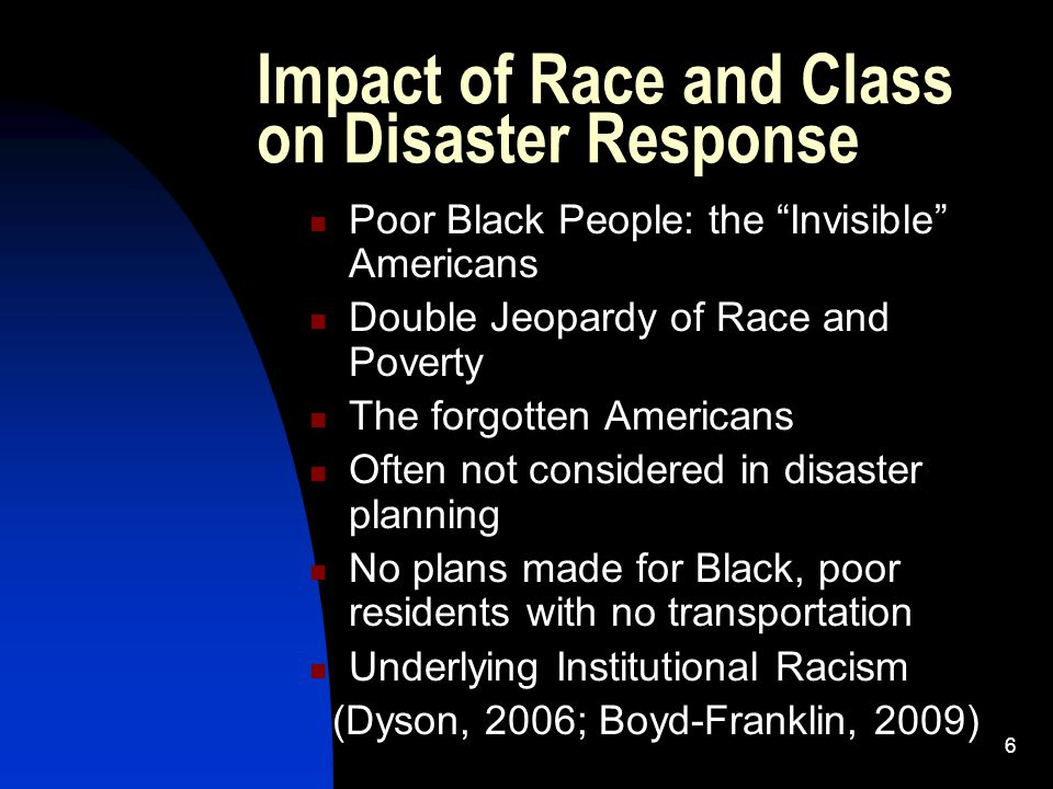 7 Different Perceptions of Race and Class CNN poll (Sept.