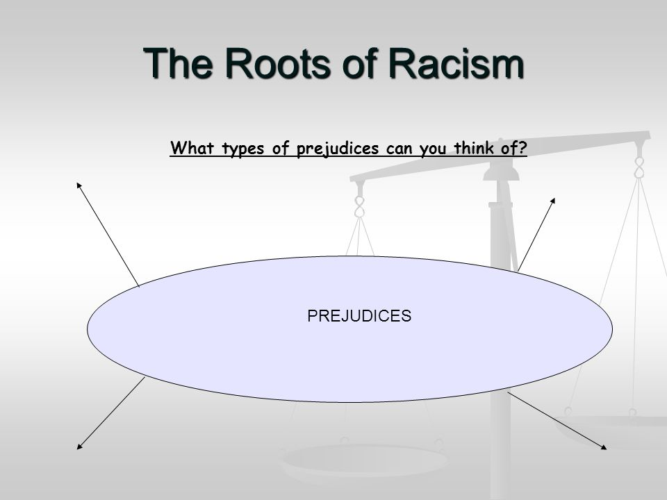The Roots of Racism What or who do you think influences how people think? Influences
