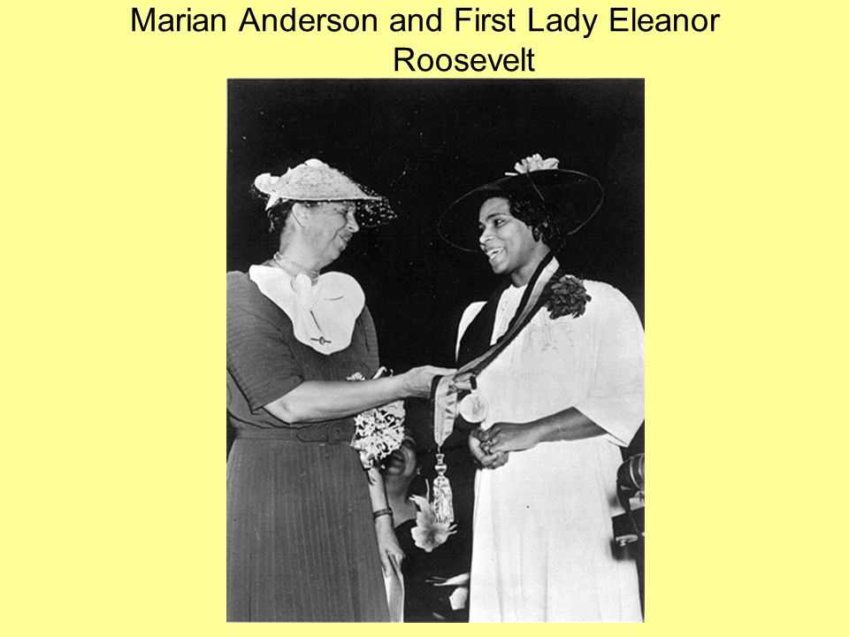 Marian Anderson and First Lady Eleanor Roosevelt