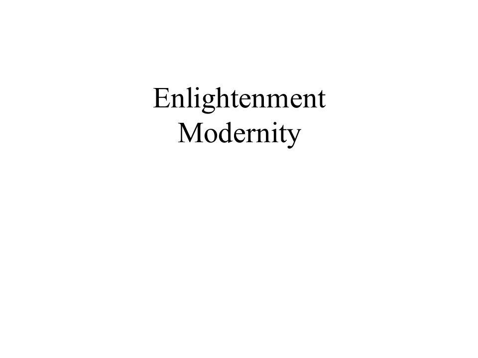 Enlightenment Modernity
