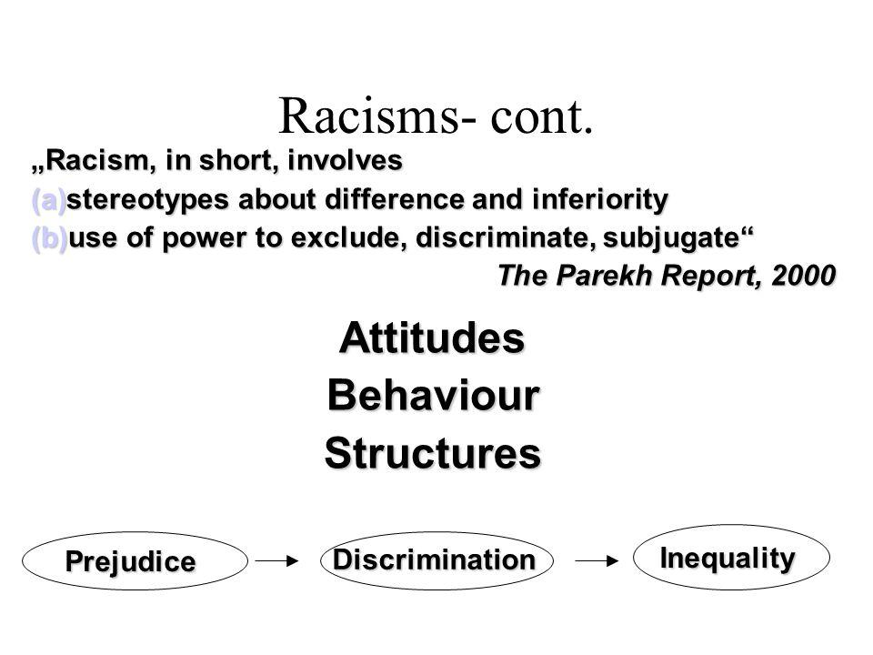 Racisms- cont.