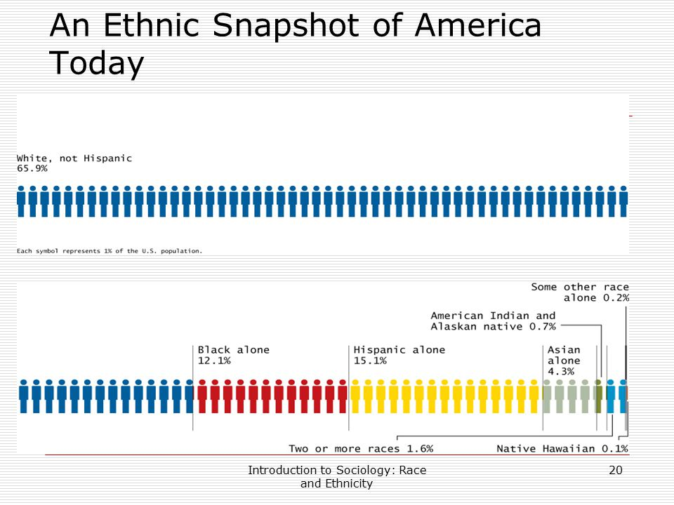Introduction to Sociology: Race and Ethnicity 20 An Ethnic Snapshot of America Today