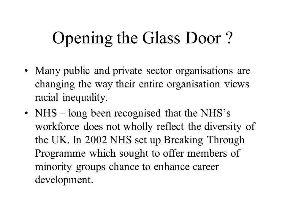 Opening the Glass Door .