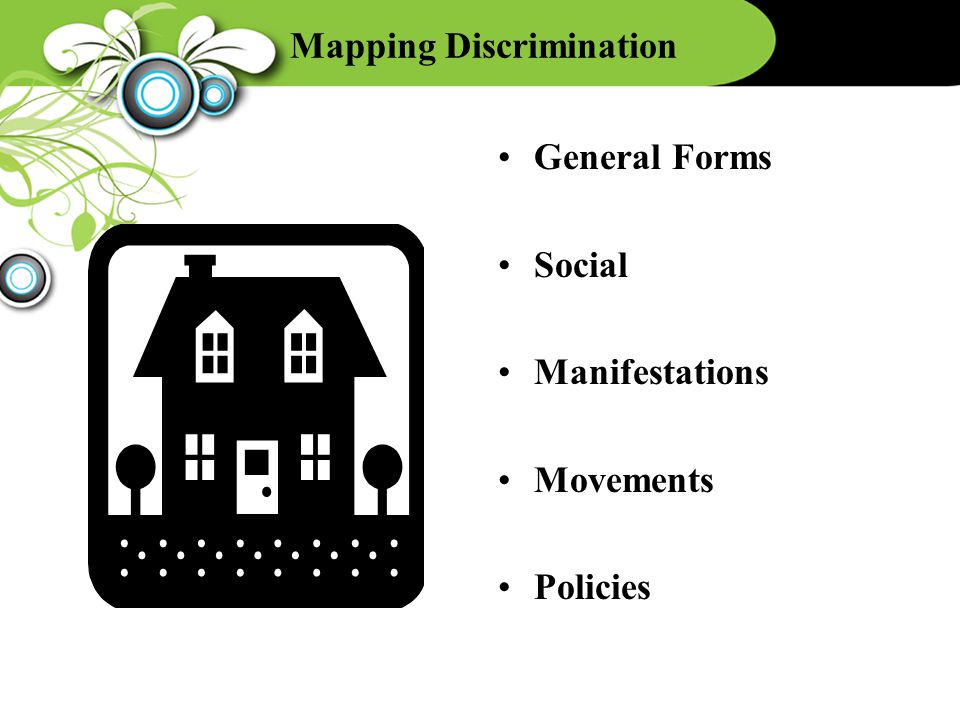 Mapping Discrimination General Forms Social Manifestations Movements Policies
