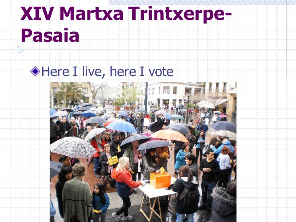 XIV Martxa Trintxerpe- Pasaia Here I live, here I vote