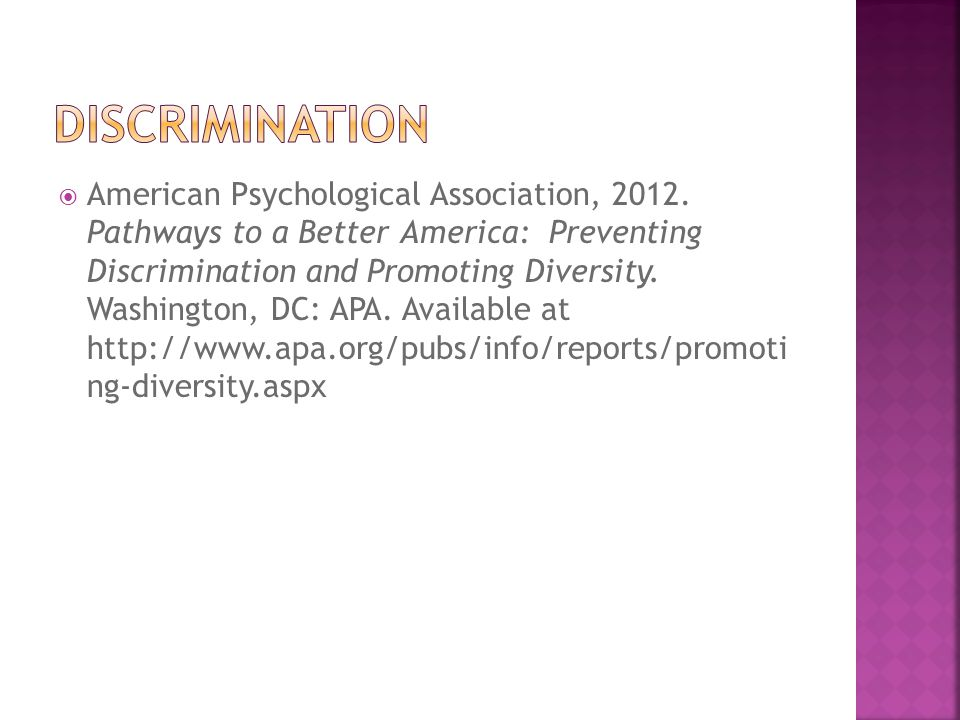  American Psychological Association (2012).