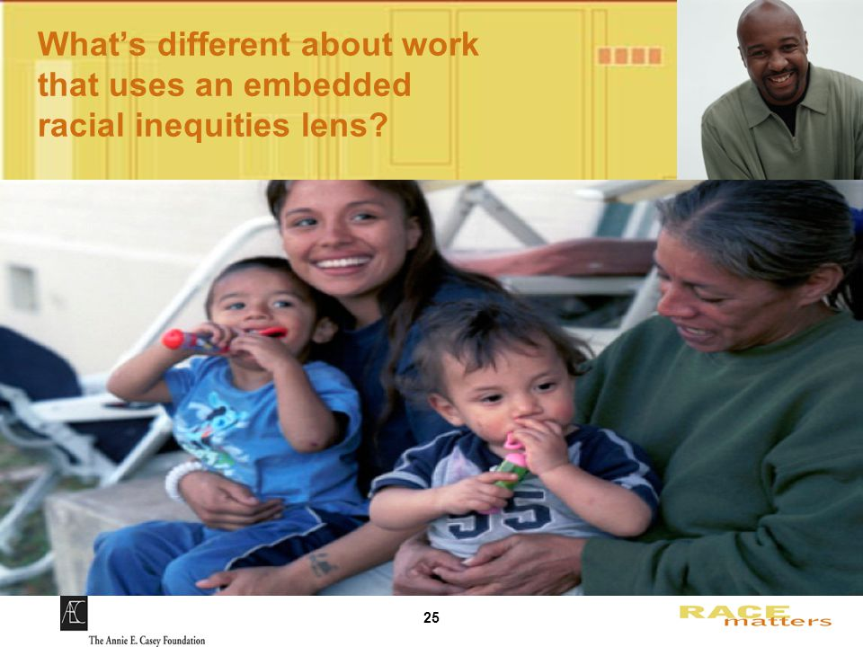 25 What's different about work that uses an embedded racial inequities lens