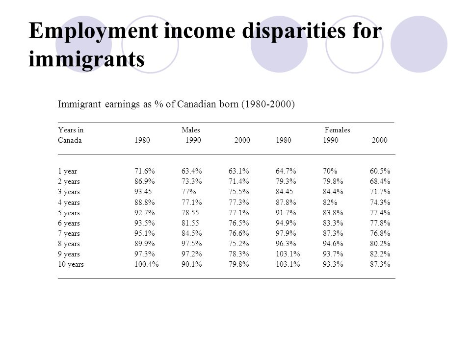 Elements of economic exclusion Racial income inequality Racial inequality in access to employment Higher unemployment and under employment Lower labour market participation Uneven conversion of human capital into comparable occupational status Higher exposure to low income - racialized poverty