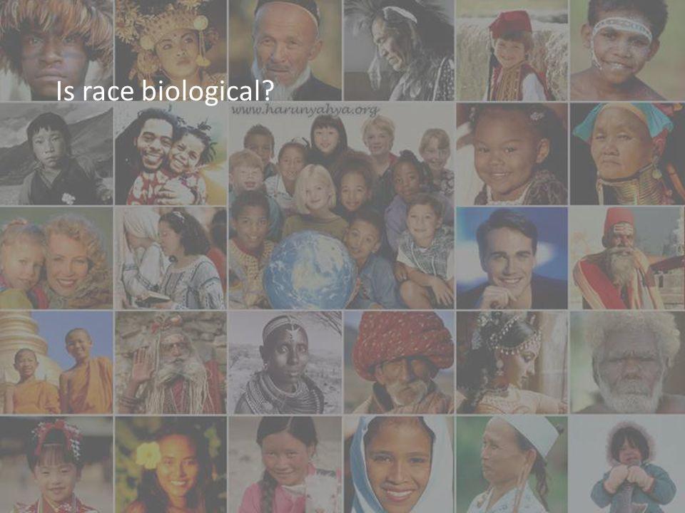 Is race biological?