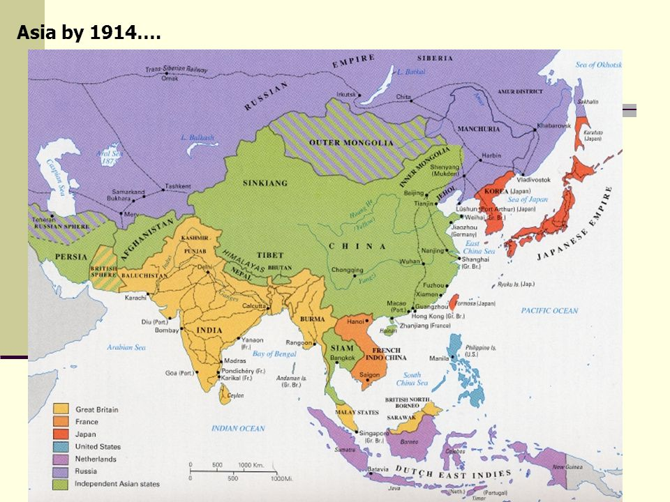 Asia by 1914….