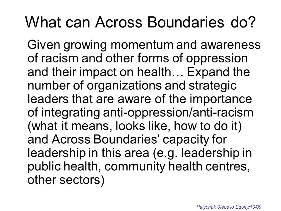 What can Across Boundaries do.