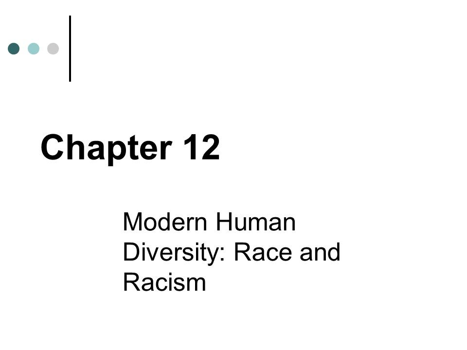 Modern Human Diversity: Race and Racism Chapter 12